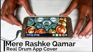 Mere Rashke Qamar - Real Drum App Cover - By Vijay Yadavar.