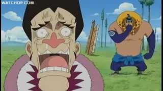 One Piece funny scene - Foxy the silver fox tries to trick Nami width=