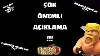 BIRAKIYORMUYUM !!! NEDEN VİDEO GELMİYOR ?? (mutlaka izle) | Clash Of Clans