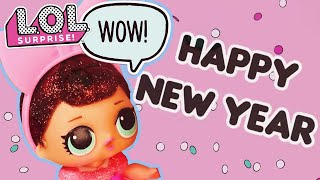 Happy New Year from LOL Surprise! | Stop Motion Cartoon | Baby Doll Surprise Toys