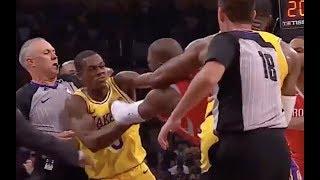 Brandon Ingram, Chris Paul, Rajon Rondo BRAWL in Lakers-Rockets