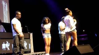 ChiCutie performing live at the AY LIVE, Indigo 02 alogside Iyanya