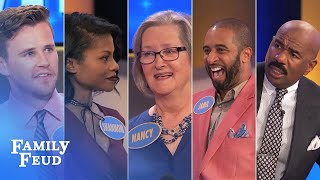 Family Feud's BEST BLOOPERS and EPIC FAILS!!!   Part 1