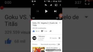 Duelo de Titãs  (goku vs Vegeta 2)