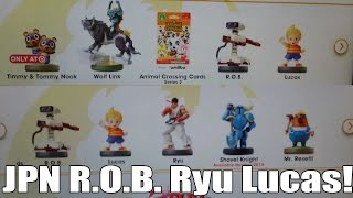 Amiibo Hunter: Japan Rob to the states?! Ryu, Lucas, Wolf Link Coming soon!