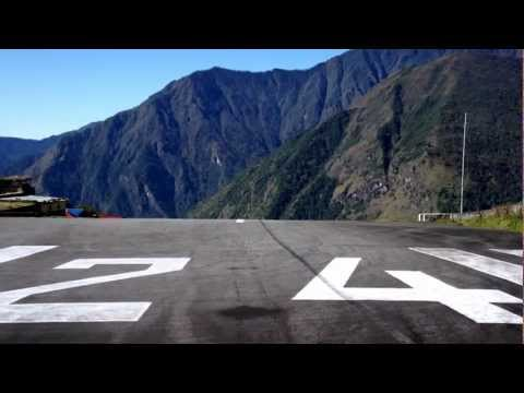 Lukla Dangerous Airport Threshold 06, Lukla, Nepal, PC-6