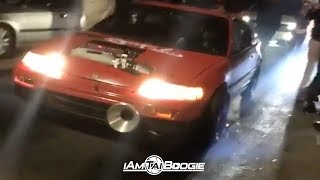 Fire Spitting K series CRX vs K24 Civic Hatch $8000.00 Pot