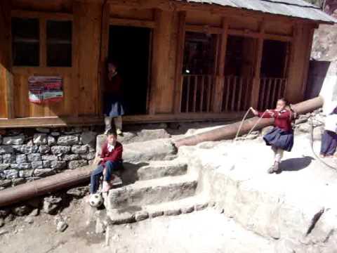 Sherpa girl skipping rope