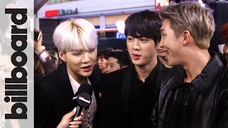 BTS Sings Camila Cabello's 'Havana' & Shows Off Some Red Carpet Dance Moves! | AMAs 2017