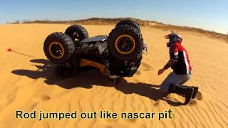 Canam Renegade Flip on Sand 2012 part 2
