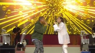 Pharrell Williams Duets With Miley Cyrus & Marcus Mumford During Ariana's Manchester Benefit Conc…