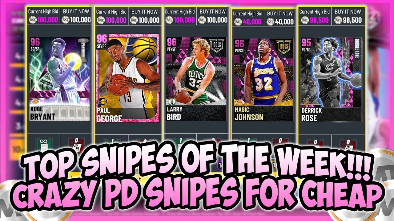 LogicLookss - NBA2K21 - TOP SNIPES OF THE WEEK!! CRAZY PD SNIPES FOR 500 MT!! MILLIONS OF MT MADE THIS WEEK!!