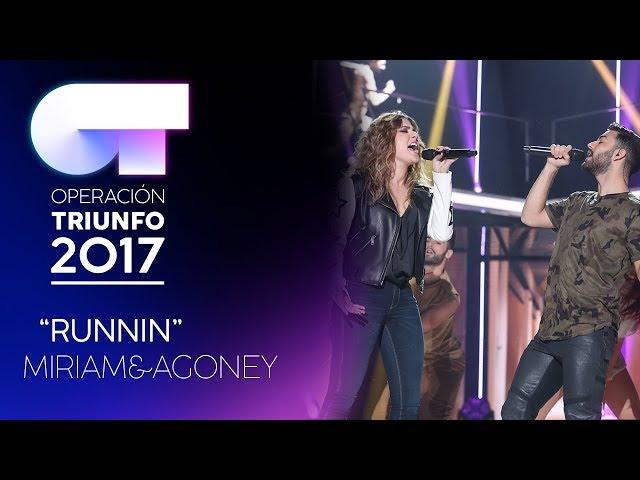 Vídeo de Miriam Rodriguez cantando Running con Agoney