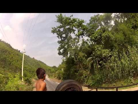 Riding in Back of Truck in Nepal