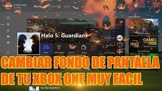 COMO CAMBIAR EL FONDO DE PANTALLA EN XBOX ONE 2018