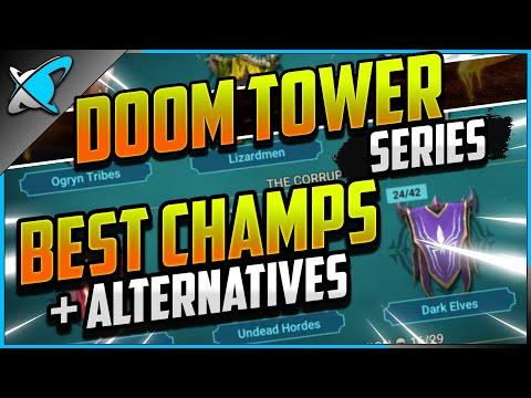 """BEST"" DOOM TOWER CHAMPIONS... & Alternatives! | With Roles Breakdown ! | RAID: Shadow Legends"