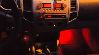 Subwoofer synced with interior lights