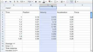 01 Google Spreadsheets Intro to the screen. pt 1 of 7