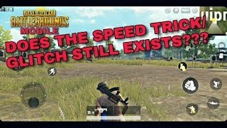 PUBG MOBILE | Speed trick/glitch fixed after the new Update?[0.6] Let's Find out...