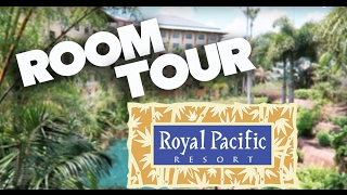 ROYAL PACIFIC RESORT - UNIVERSAL ORLANDO - QUEEN ROOM TOUR & HOW TO USE EXPRESS PASS KIOSK width=