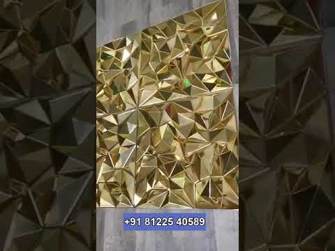 Gold PVC  ACP Panel Elevation Facade Design  Stage Backdrop Decor Chennai Bangalore India +91 81225 40589