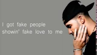 Drake -  Fake Love Lyrics (Official)