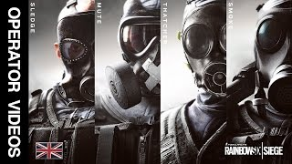 Rainbow Six Siege - All 'SAS' Operator Videos - Sledge, Thatcher, Mute & Smoke!