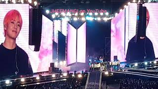 [SUBBBED] JIN, JHOPE, SUGA, JUNGKOOK RAN AFTER BEING STUCK ON THE MOVING PLATFORM lol (LY TOUR)