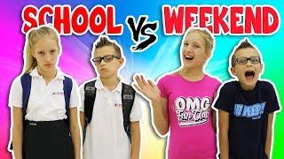 NIGHTTIME ROUTINE!!  SCHOOL DAY vs WEEKEND width=