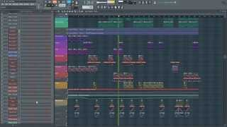 EDX Belong Style Deep House Remake FL Studio & Massive - Template Playthrough