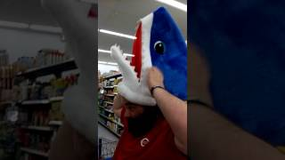 My best friend as JAWS at Wal-Mart