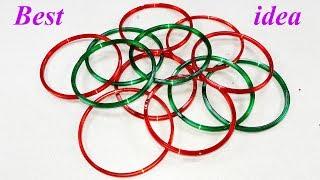 Best craft idea | Diy old bangles reuse idea | DIY arts and crafts | Amazing craft idea width=