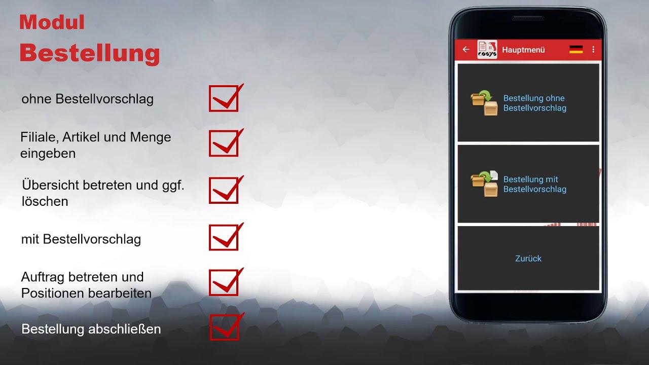 Bestellungen mobil erfassen | COSYS POS Non Food Demo