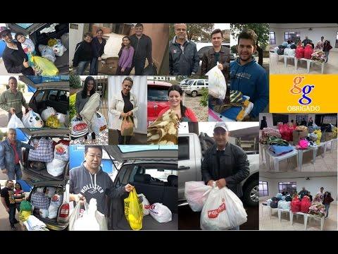 Goioerenses solidários doam roupas. calçados e cobertores para Bredápólis