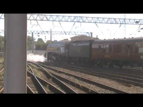 LNER 60009 Union of South Africa departs Carlisle with