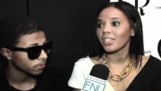 Angela and Diggy Simmons at the NY Fashion Week 2012 at Fashion News Live