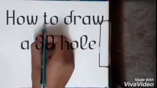How to draw a 3D hole