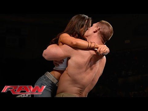 Download Video John Cena And AJ Lee Kiss After Cena's Victory Over Dolph Ziggler: Raw, Nov. 26, 2012