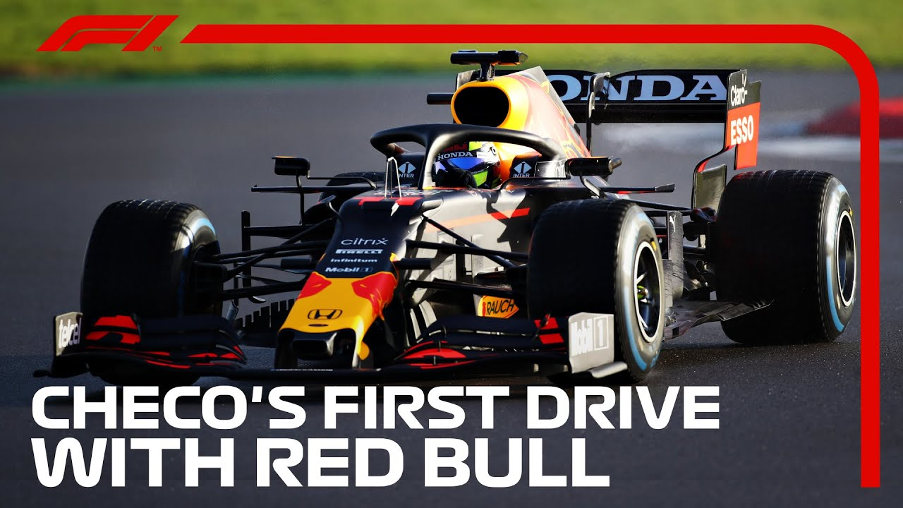 Formula1 - Sergio Perez's First Drive With Red Bull