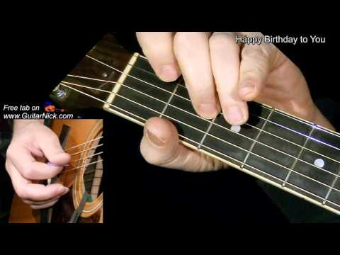 Happy Birthday Acoustic Guitar Tab Learn To Play Chords Chordify