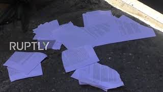 Venezuela: Military tears 'amnesty law' copies delivered by Guaido supporters