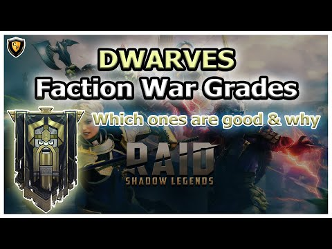 RAID Shadow Legends | DWARVES Faction War Grades