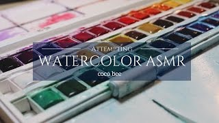 ASMR Watercolors Set Up (Wear Headphones)