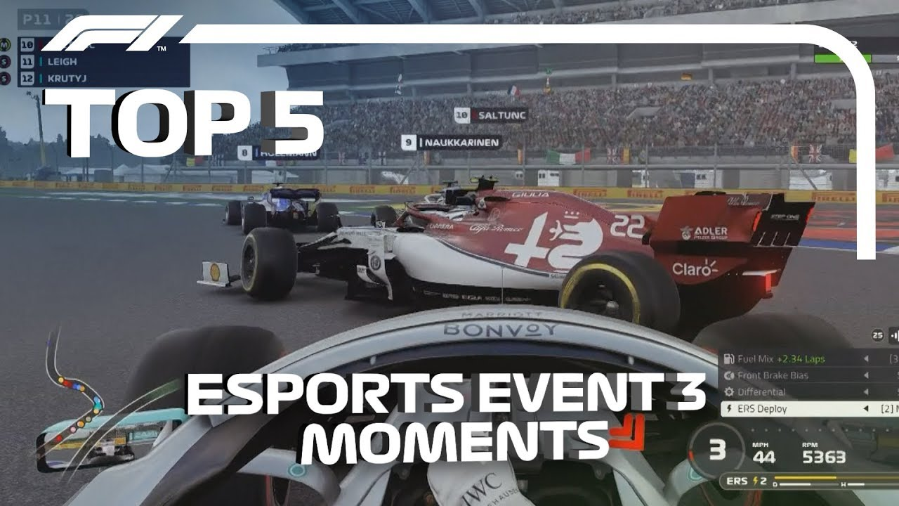 Top 5 Moments | F1 Esports Pro Series 2019 Event 3