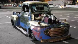 Old Smokey F1 - 1949 Ford Compound Twin Turbo Diesel Pickup with Nitrous at SEMA 2017