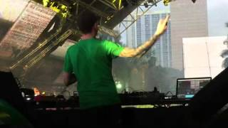 On stage with Deadmau5 at Ultra Music Festival Miami 2016 Megastructure ASOT