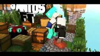 || Intro #28 || Santos Fit || Minecraft Animation || (Sky Wars Huheueh) ||