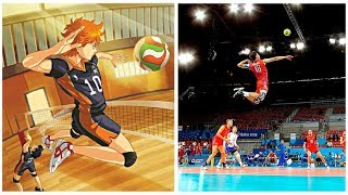 Haikyuu VS Real Life | Best Volleyball Actions (HD)