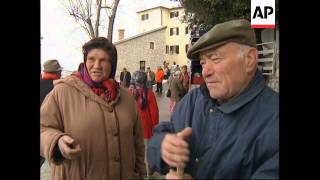 ITALY: VILLAGE RESIDENTS ENJOY ACTIVE OLD AGE