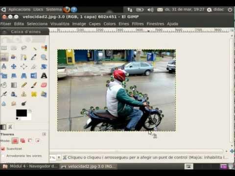 [Aula OX] GIMP-m04 Filtre efecte velocitat